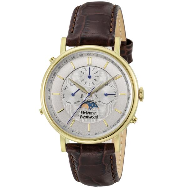ヴィヴィアン ウエストウッド Vivienne Westwood ポートランド メンズ 腕時計 時計 VV164CHBR グレー