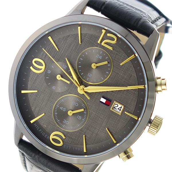 トミー ヒルフィガー TOMMY HILFIGER クオーツ メンズ 腕時計 時計 1710357 チャコール