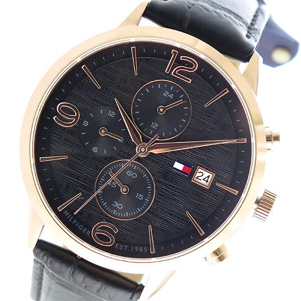 トミー ヒルフィガー TOMMY HILFIGER クオーツ メンズ 腕時計 時計 1710358 ブラック