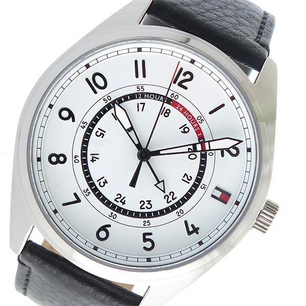 トミー ヒルフィガー TOMMY HILFIGER クオーツ メンズ 腕時計 時計 1791373 ホワイト