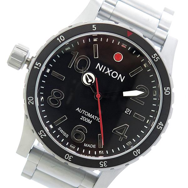 ニクソン NIXON ディプロマティック 自動巻き メンズ 腕時計 A429-000 ブラック/シルバー【送料無料】