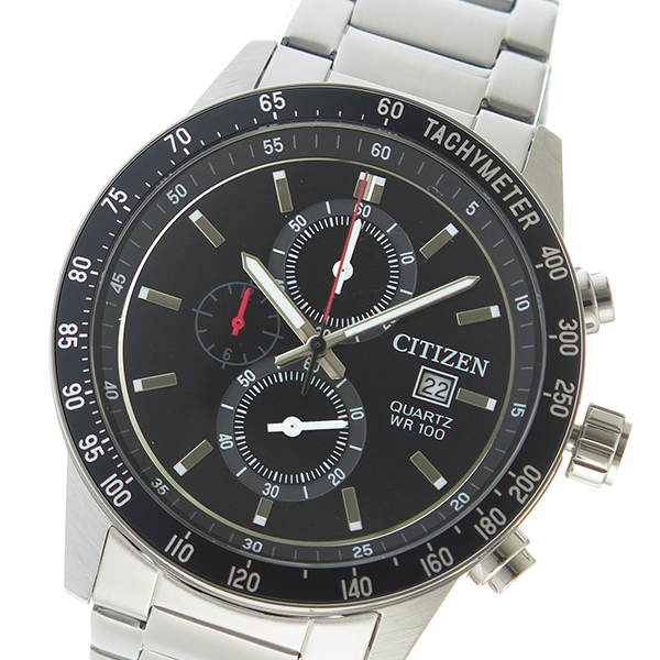 シチズン CITIZEN クオーツ メンズ 腕時計 時計 AN3600-59E ブラック