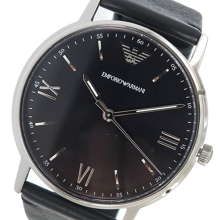 エンポリオ アルマーニ EMPORIO ARMANI クオーツ メンズ 腕時計 時計 AR11013 ブラック