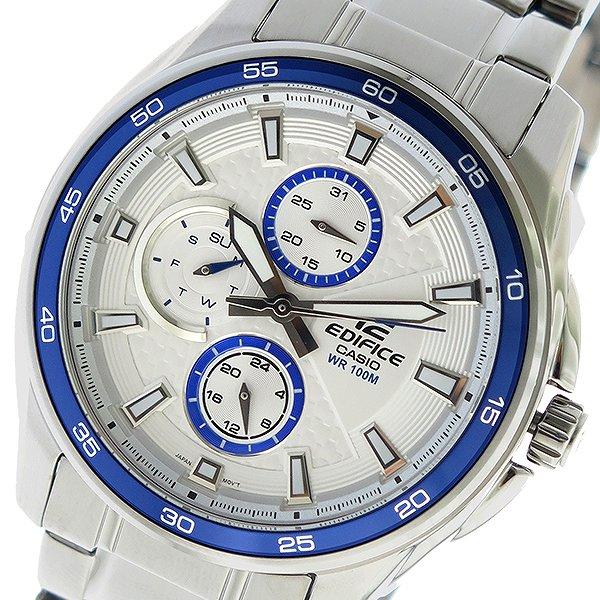 カシオ CASIO エディフィス EDIFICE クオーツ メンズ 腕時計 時計 EF-334D-7AV ホワイト