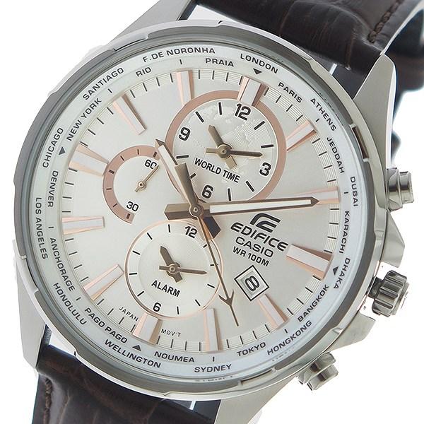 カシオ CASIO エディフィス EDIFICE クロノ クオーツ メンズ 腕時計 時計 EFR-304L-7AV シルバー