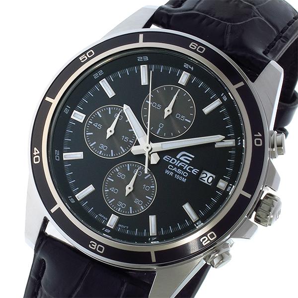 カシオ CASIO エディフィス EDIFICE クオーツ メンズ 腕時計 時計 EFR-526L-1AV ブラック