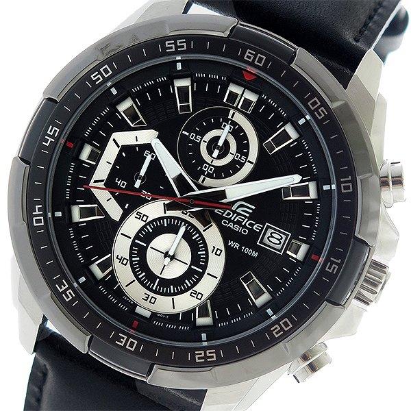 カシオ CASIO エディフィス EDIFICE クロノ クオーツ メンズ 腕時計 時計 EFR-539L-1AV ブラック