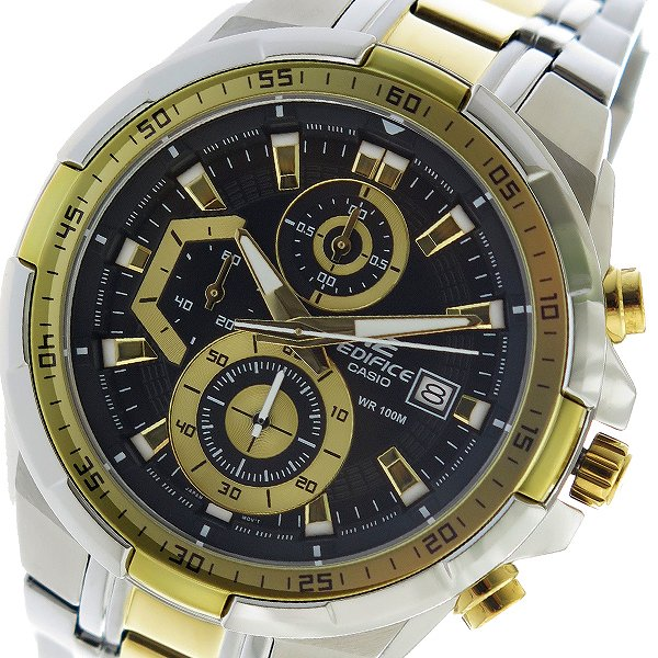 カシオ CASIO エディフィス EDIFICE クロノ クオーツ メンズ 腕時計 時計 EFR-539SG-1AV ブラック