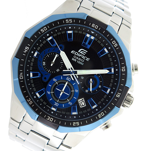 カシオ CASIO エディフィス EDIFICE クロノグラフ クオーツ メンズ 腕時計 時計 EFR-554D-1A2V ブラック/ブルー