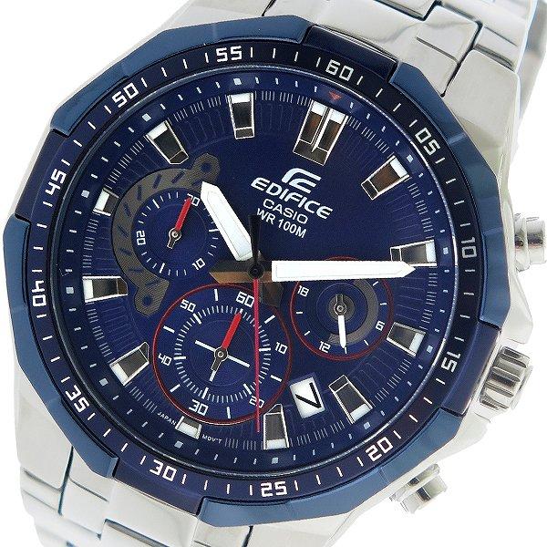 カシオ CASIO エディフィス EDIFICE クオーツ メンズ 腕時計 時計 EFR-554RR-2AV ネイビー