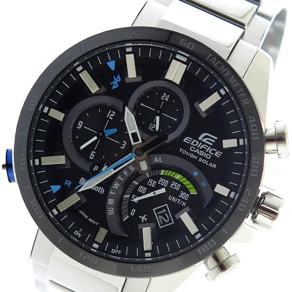 カシオ CASIO エディフィス EDIFICE クロノ クオーツ メンズ 腕時計 時計 EQB-501XDB-1A ブラック
