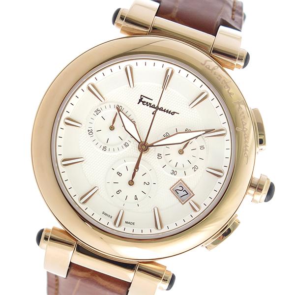 サルヴァトーレ フェラガモ クロノ クオーツ メンズ 腕時計 FCP050017 ホワイト【送料無料】