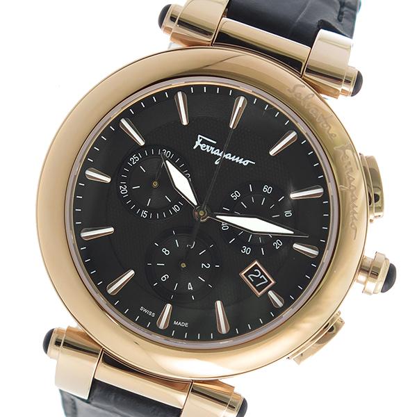 サルヴァトーレ フェラガモ クロノ クオーツ メンズ 腕時計 FCP060017 ブラック【送料無料】