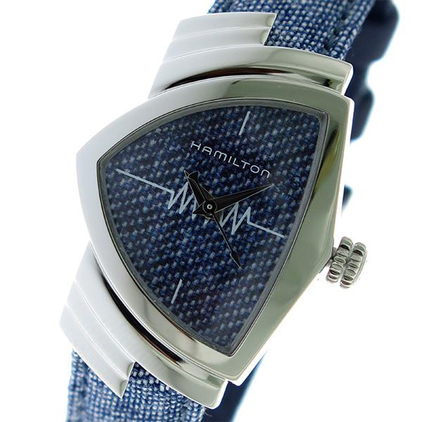 ハミルトン HAMILTON ベンチュラ VENTURA クオーツ レディース 腕時計 H24211941 デニム/デニム【】【ポイント10倍】【楽ギフ_包装】【inte_D1806】