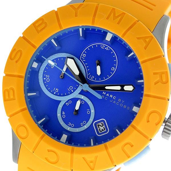 マークバイ マークジェイコブス MARC BY MARC JACOBS バズトラック クロノ クオーツ メンズ 腕時計 時計 MBM5545 ブルー/オレンジ