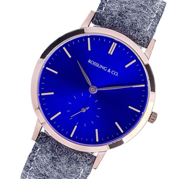 ROSSLING ロスリング MODERN 36MM STIRLING レディース 腕時計 時計 RO-003-016 ライトグレー/ブルー