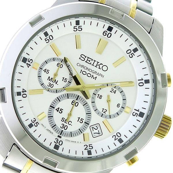 セイコー SEIKO クオーツ メンズ 腕時計 時計 SKS607P1 シルバー/シルバー×ゴールド