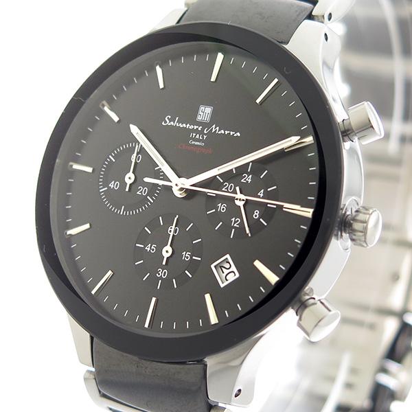 サルバトーレマーラ SALVATORE MARRA クオーツ メンズ 腕時計 時計 SM17121-SSBK ブラック