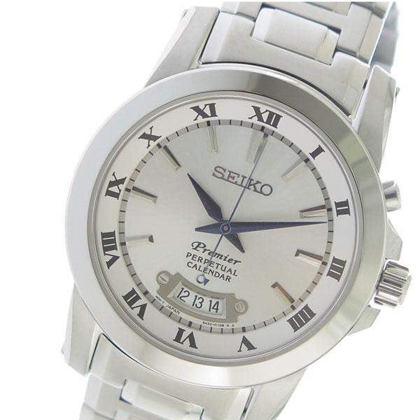 セイコー SEIKO プレミアパーペチュアル Premier Perpetual クオーツ メンズ 腕時計 時計 SNQ145P1 シルバー