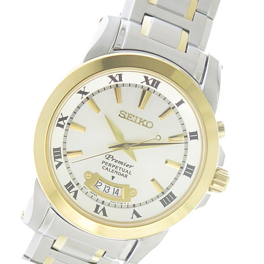 セイコー SEIKO プレミアパーペチュアル Premier Perpetual クオーツ メンズ 腕時計 時計 SNQ148P1 ホワイトシルバー