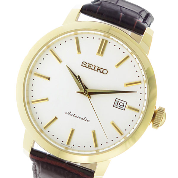セイコー SEIKO オートマチック AUTOMATIC 自動巻き メンズ 腕時計 時計 SRPA28K1 ホワイト