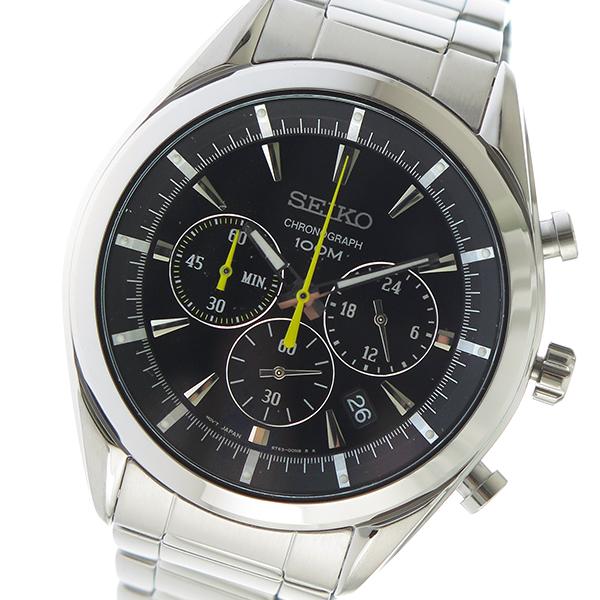 セイコー SEIKO クオーツ メンズ 腕時計 時計 SSB087P1 ブラック