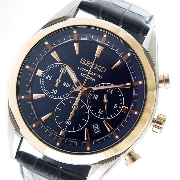 セイコー SEIKO クオーツ メンズ 腕時計 時計 SSB160P1 ネイビー