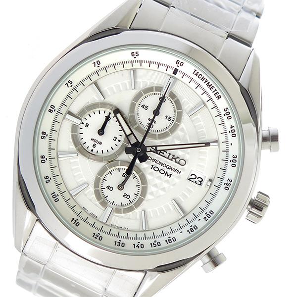 セイコー SEIKO クオーツ メンズ 腕時計 時計 SSB173P1 ホワイト