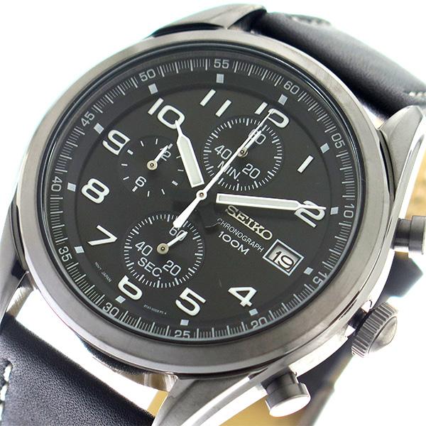 セイコー SEIKO クオーツ メンズ 腕時計 時計 SSB277P1 ブラック