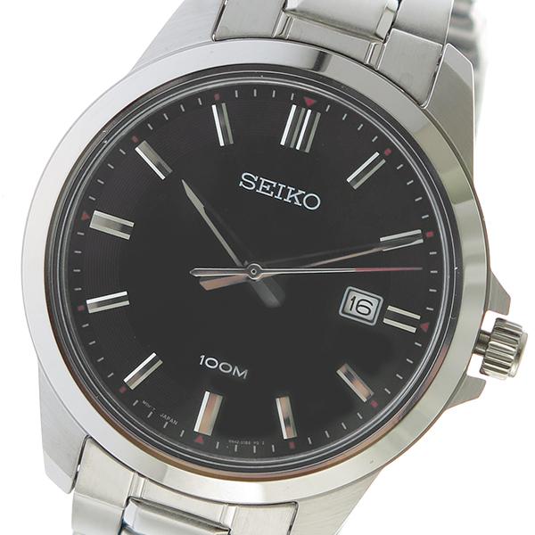 セイコー SEIKO クオーツ メンズ 腕時計 時計 SUR245P1 ブラック