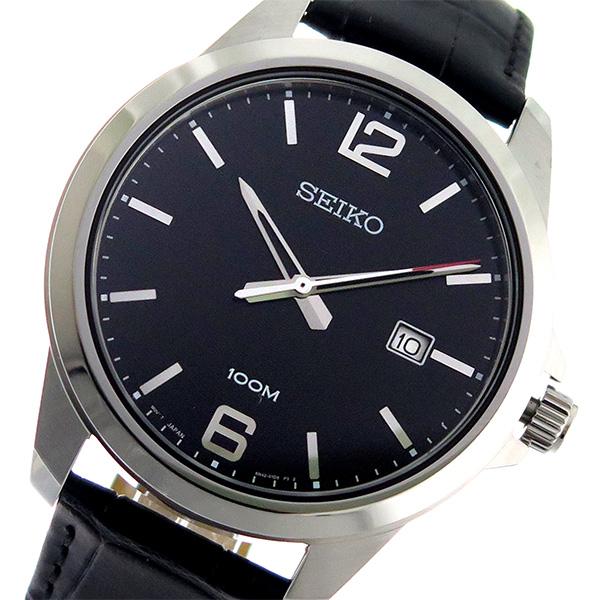 セイコー SEIKO クオーツ メンズ 腕時計 時計 SUR251P1 ブラック