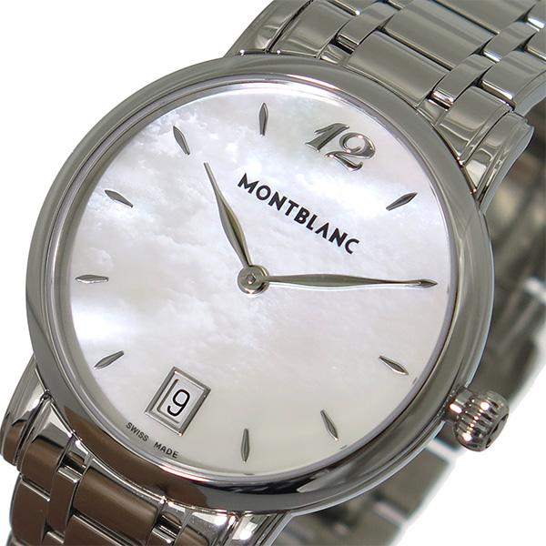 モンブラン MONTBLANC スター STAR クオーツ レディース 腕時計 108764 ホワイトパール/シルバー【送料無料】