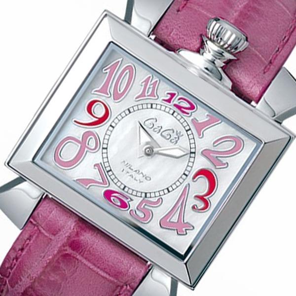 ガガ ミラノ ナポレオーネ クオーツ レディース 腕時計 60306 ホワイトパール【送料無料】