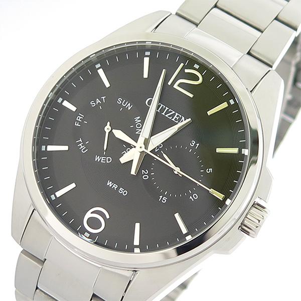 シチズン CITIZEN  クオーツ メンズ 腕時計 時計 AG8320-55F ブラック/シルバー