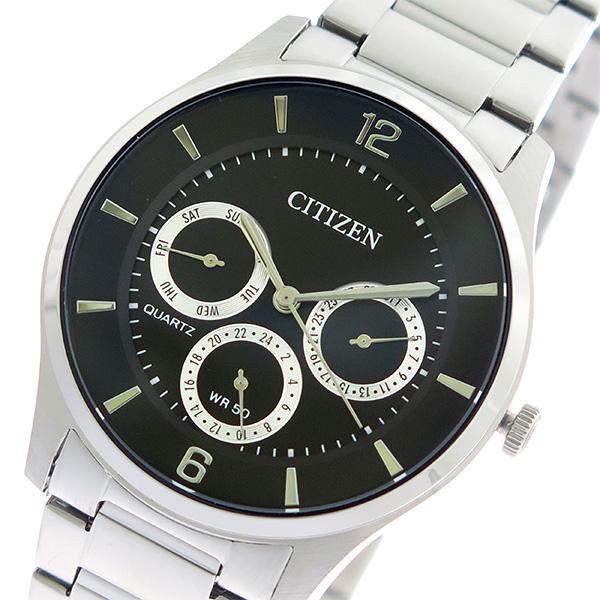 シチズン CITIZEN  クオーツ メンズ 腕時計 時計 AG8351-86E ブラック/シルバー【ポイント10倍】【楽ギフ_包装】