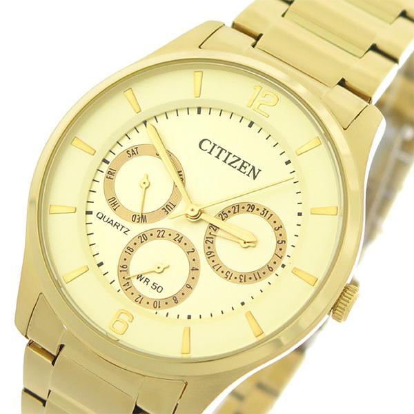 シチズン CITIZEN   クオーツ メンズ 腕時計 時計 AG8353-81P シャンパンゴールド/ゴールド【ポイント10倍】【楽ギフ_包装】