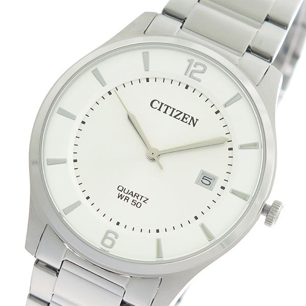 シチズン CITIZEN クオーツ メンズ 腕時計 時計 BD0041-89A ホワイトシルバー/シルバー