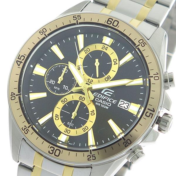 カシオ CASIO エディフィス EDIFICE クロノ クオーツ メンズ 腕時計 時計 EFR-546SG-1A ブラック/シルバー×ゴールド