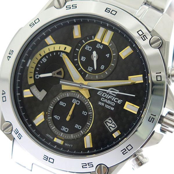 カシオ CASIO エディフィス EDIFICE クロノ クオーツ メンズ 腕時計 時計 EFR-557CD-1A9 ブラック×ゴールド/シルバー