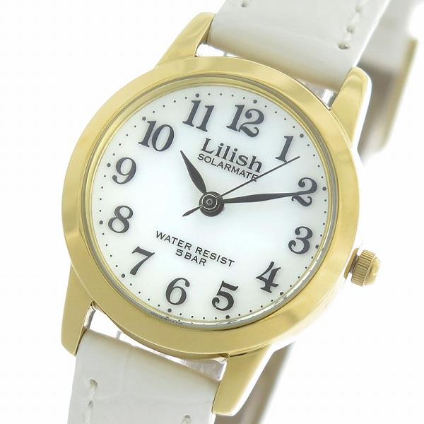 シチズン CITIZEN リリッシュ LILISH ソーラー クオーツ レディース 腕時計 時計 H049-114 ホワイト/ホワイト