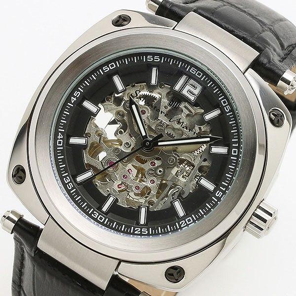 サルバトーレマーラ SALVATORE MARRA 自動巻き メンズ 腕時計 時計 SM18114-SSBK ブラック/ブラック