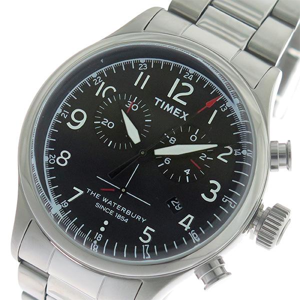 タイメックス TIMEX ウォーターベリー Waterbury クロノ クオーツ メンズ 腕時計 時計 TW2R38400 ブラック/シルバー