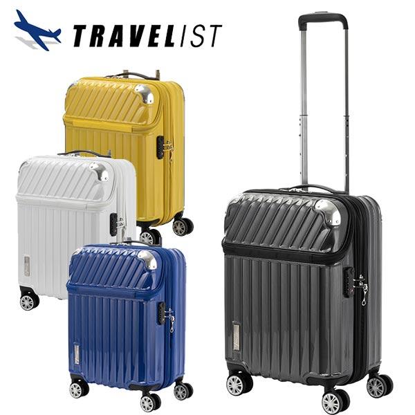 トラベリスト TRAVELIST トップオープン スーツケース 76-20291 モーメント 35L ブラックカーボン