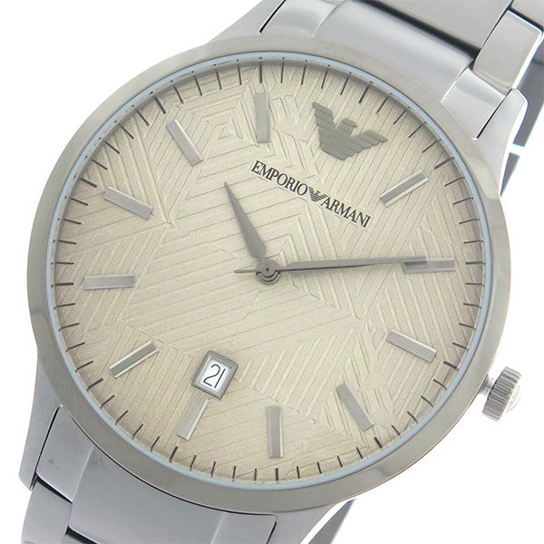 エンポリオ アルマーニ EMPORIO ARMANI KAPPA クオーツ メンズ 腕時計 時計 AR11120 グレージュ/ガンメタ【ポイント10倍】