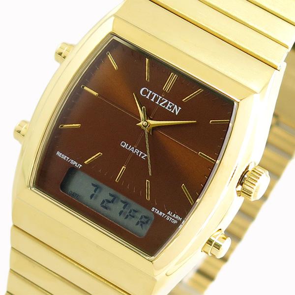 シチズン CITIZEN 腕時計 時計 メンズ レディース JM0542-56X クォーツ ブラウン ゴールド