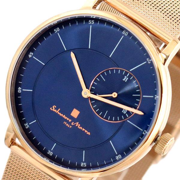 サルバトーレマーラ SALVATORE MARRA 腕時計 時計 メンズ レディース SM17105M-PGBL クォーツ ネイビー ピンクゴールド