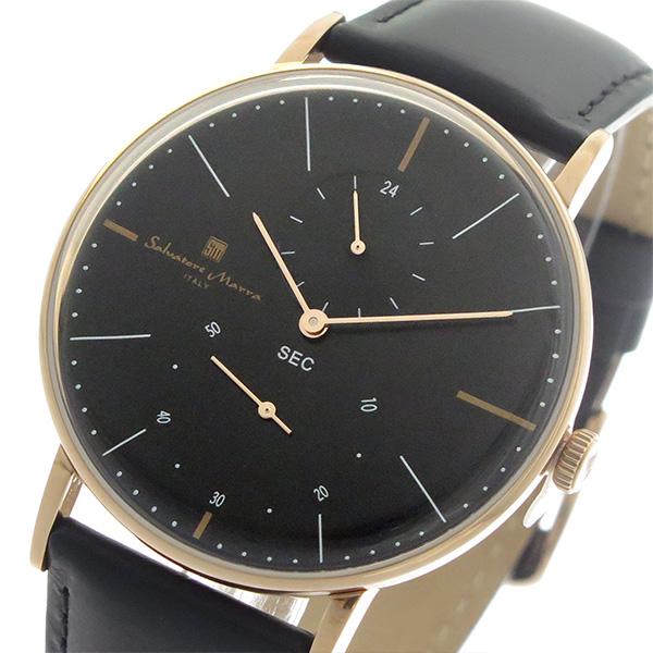 サルバトーレマーラ SALVATORE MARRA クオーツ メンズ 腕時計 時計 SM18103-PGBK ブラック/ブラック