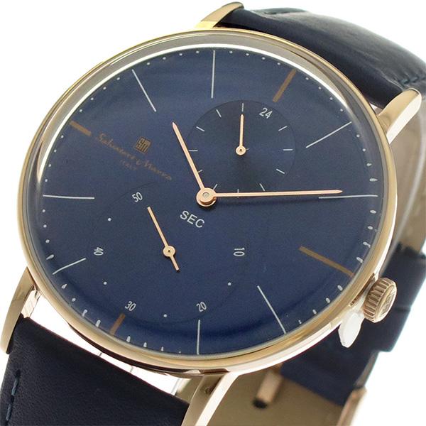 サルバトーレマーラ SALVATORE MARRA クオーツ メンズ 腕時計 時計 SM18103-PGBL ネイビー/ネイビー