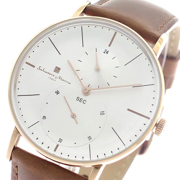 サルバトーレマーラ SALVATORE MARRA クオーツ メンズ 腕時計 時計 SM18103-PGSV シルバー/ライトブラウン