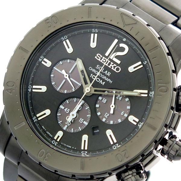 セイコー SEIKO 腕時計 時計 メンズ SSC225P1 クォーツ ブラック